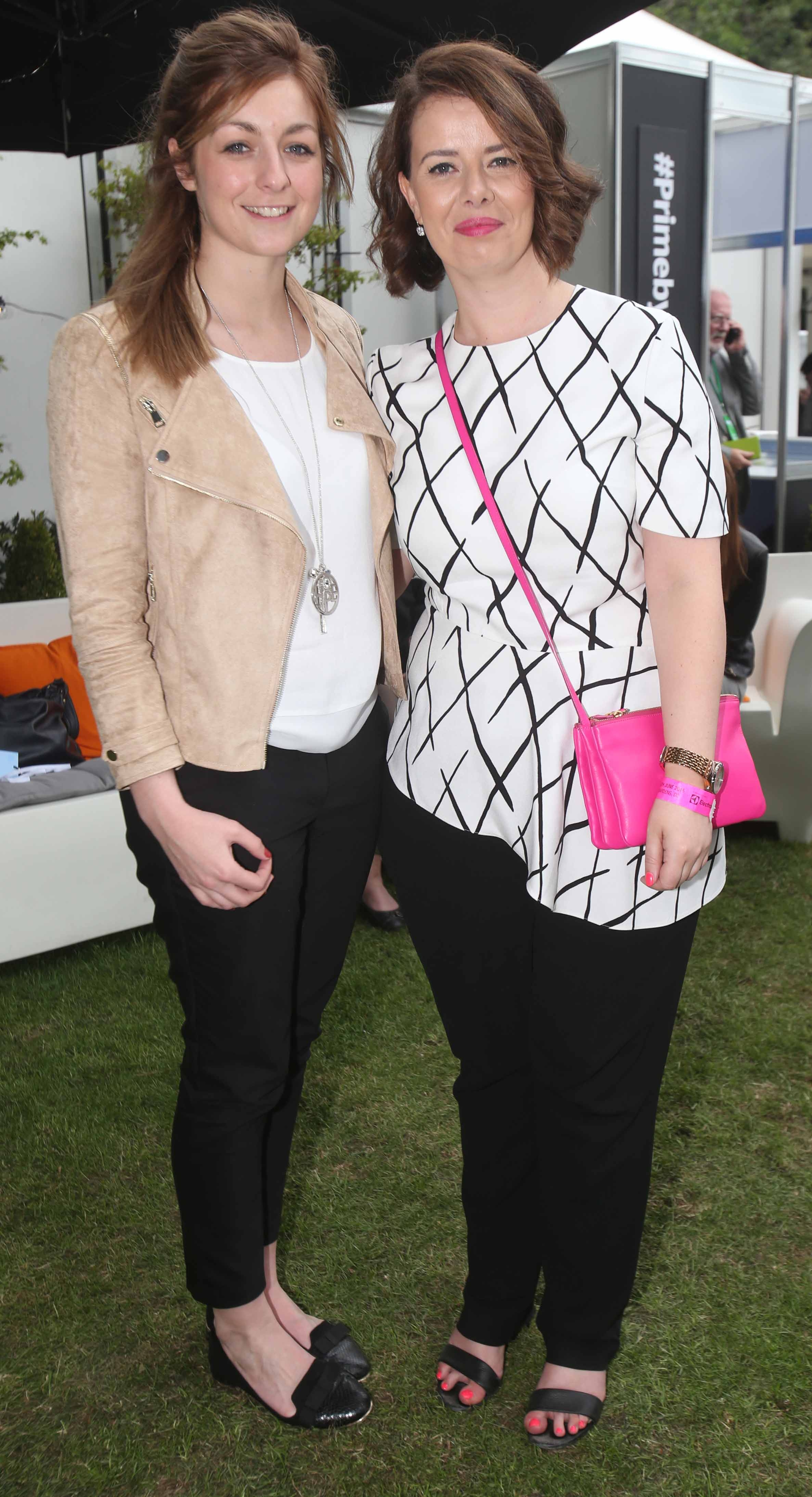 Laura Dunne and Rosie McMeel at the Aldi restaurant at a Taste of Dublin festival in the Iveagh Gardens Dublin. Photo: Leon Farrell/Photocall Ireland.