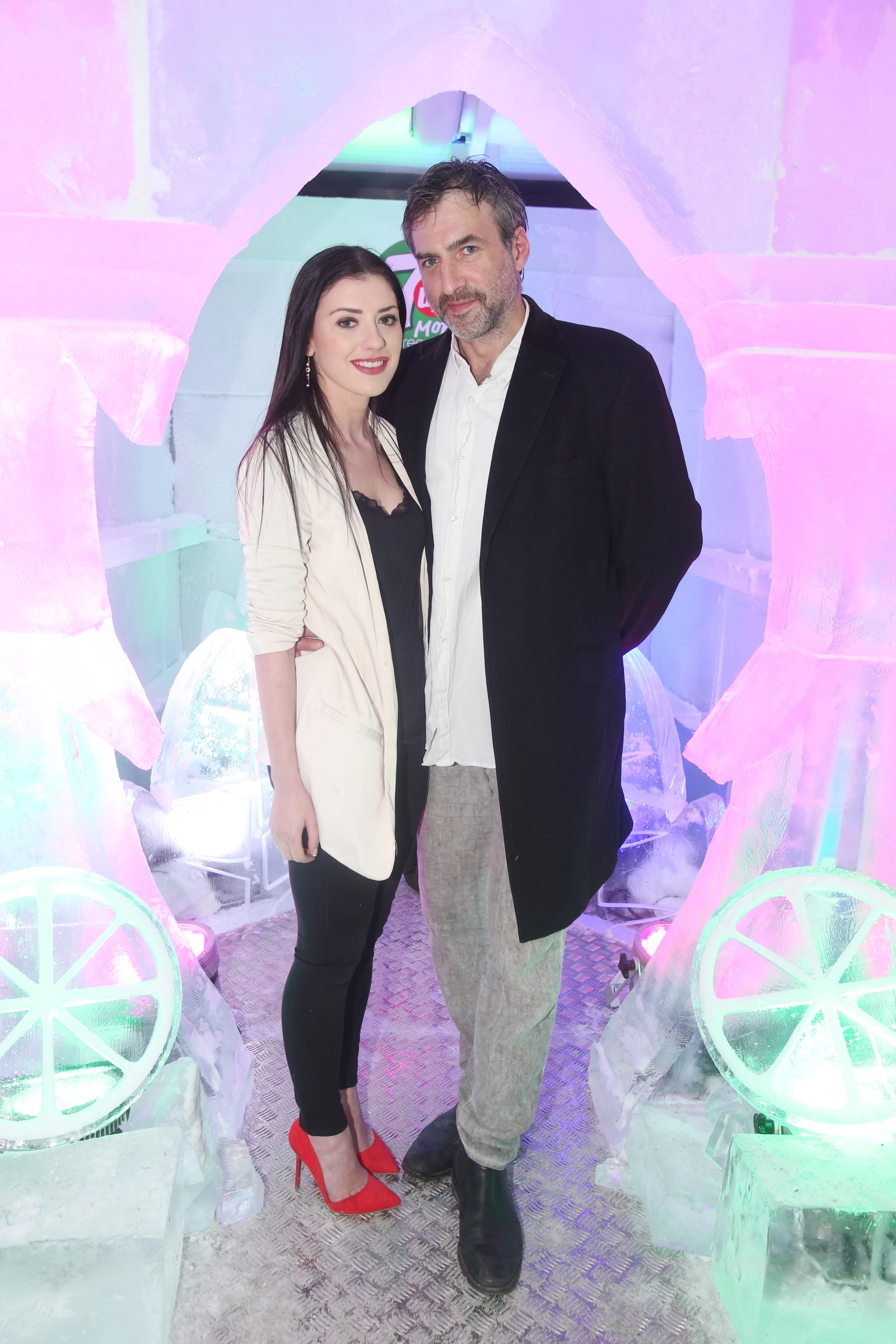 NO REPRO FEE  Emma Elizaregan and Steve Kingston pictured at the launch of the 7UP Mojito Free RefreshMINT Experience on Sir John Rogerson's Quay. Dublin's first ever ice experience is now open to the public until Monday, 6th June.Photo Leon Farrell/Photocall Ireland.