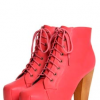 Olivia Coral Leather Look Platform Shoe Boots 45 boohoo.com