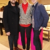 NO REPRO FEE 8/3/2013  Brendan Courtney,Caroline Issa and Colm Corrigan  photographed on Thursday, 7th March 2013 at The Shoe Rooms in Brown Thomas Dublin at the official launch event for L.K Bennett London by Caroline Issa, with special guest on the evening London style-icon Caroline Issa.The limited edition L.K. Bennett London by Caroline Issa collection features statement sandals, ankle-strap stilettos, shoe boots, the kitten heel, and a loafer as well as catch-me-if-you can clutches. Hot, neon Thai inspired embroidery puffs out in captivating pinks, oranges, greens, yellows and reds based on a background of natural or black canvas and leather. Delicate and striking oriental flowers and zig-zags welcome in the Spring season with swing-tag pom-poms showing the way to breezy, easy summer-time glamour. The collection is priced from €295 (shoes) and €335 (bags) and is available exclusively to Brown Thomas Dublin in Ireland. Photo:Leon Farrell/Photocall Ireland.
