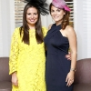 8/8/13***NO REPRO FEE***Emily O'Donnell and Avila Lipsett pictured at the Dylan Hotel's best hat competition, which took place at the Dylan Hotel after the Blossom Hill Ladies Day at the Dublin Horse Show. The winner, Cathy O'Connor won a bespoke hat created by Irish milliner Alva Maguire, which was inspired by the Dylan Hotel www.dylan.ie Pic:Marc O'Sullivan