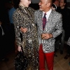 Daphne Guinness and Christian Louboutin attend as French shoe designer Christian Louboutin celebrates the opening of his exhibition at the Design Museum with an after party at The Club at The Ivy