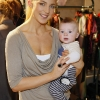 Sarah McGovern and her son Jude at the launch of the Marks &amp; Spencer Spring Summer 2012 collections-photo Kieran Harnett