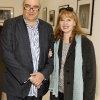 no fee for first use in diary if Kildare village used in caption Stefano Crescenzi and Eileen Dunne at the opening of the John Minihan photographic exhibition at Kildare Village-photo Kieran Harnett