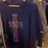 Jumper with embellished cross detail
