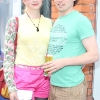 Grainne Hemeryck &amp; Karl Smith pictured at the launch of the Peroni Pop Up Boutique on Castle Market Street Dublin. Photo: Anthony Woods