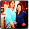 Fashion designer Holly Fulton (left) with Anne Marie from WhatSheWears at the Scottish Fashion Awards