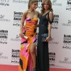 Olcay Gulsen, owner of Supertrash fashion label (left) with Made in Chelsea Star Millie Mackintosh