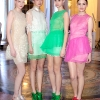 MODELS DANIELLE WINCWORTH , AOIFE KAVANAGH  , THALIA HEFFERNAN  AND BLAITHNAID MCKENNA  WEAR DESIGNS BY SIMONE ROCHA   AT CITY HALL DUBLIN FOR  THE LAUNCH OF THE WEST COAST COOLER LIMITED EDITION COLLECTION- A COLLABORATION WITH IRISH FASHION DESIGNER SIMONE ROCHA  PIC BRIAN MCEVOY NO REPRO FEE FOR ONE USE