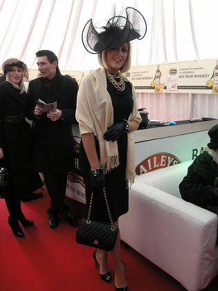 Charlene Byers at Lexus Chase Day at Leopardstown