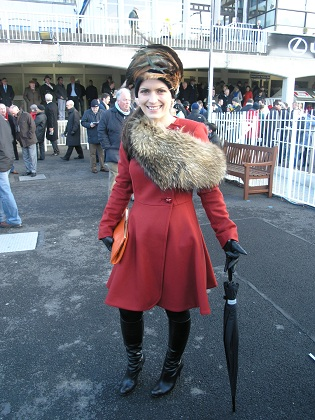 Eibhlin Mhic Fhearraigh  at Lexus Chase Day at Leopardstown