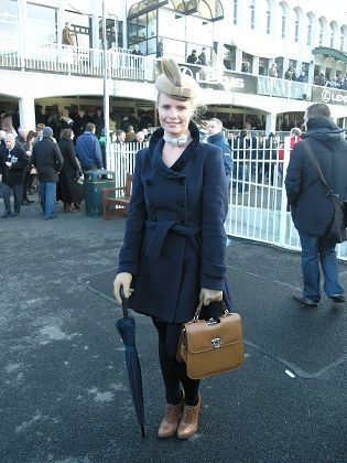 Niamh Dunney at Lexus Chase Day at Leopardstown