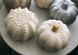 White and Metallic Pumpkins – DIY
