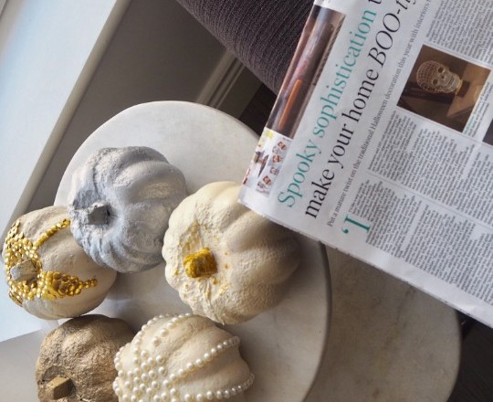Halloween decor – Interviewed in the Independent