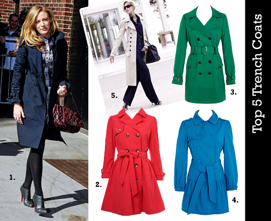 Top 5: Trench Coats