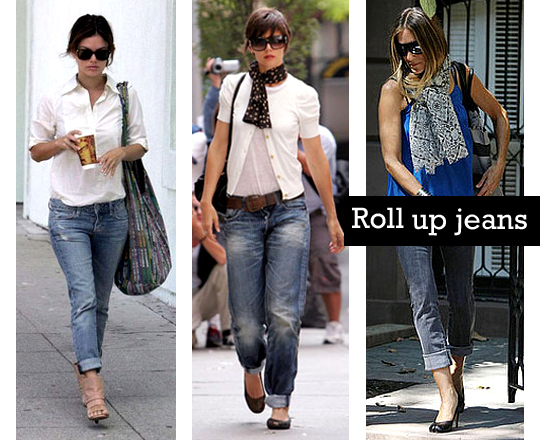 How to wear rolled up jeans