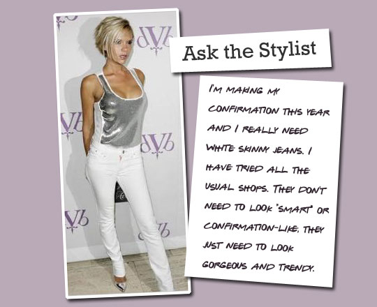 Ask the Stylist: White Skinny Jeans
