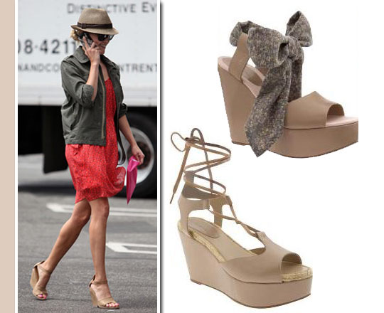 Accessory Alert: Nude Wedges