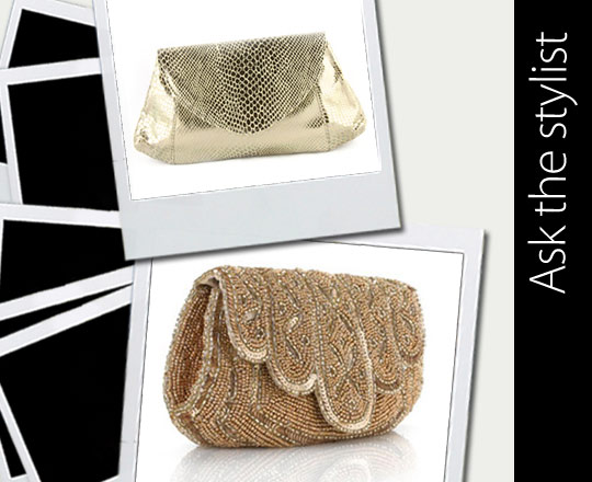 Ask the Stylist: Gold Clutch