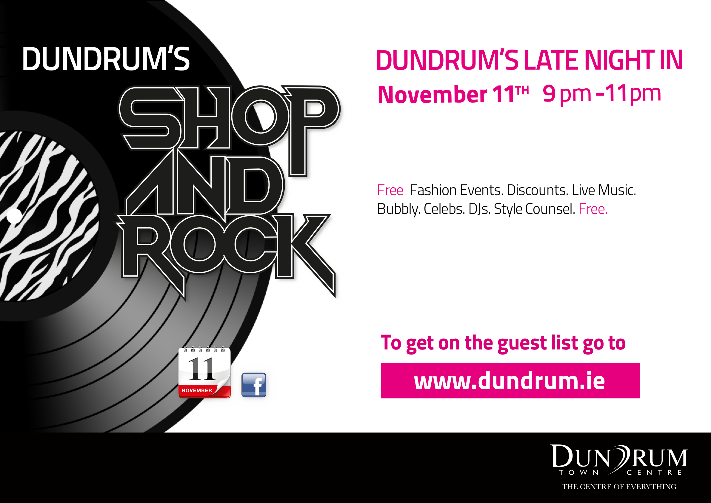 Dundrum Shop & Rock Late Night In – 11/11/10