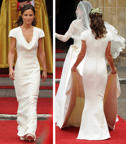 Kate was a brave soul to let her sister wear white but the simplicity ...