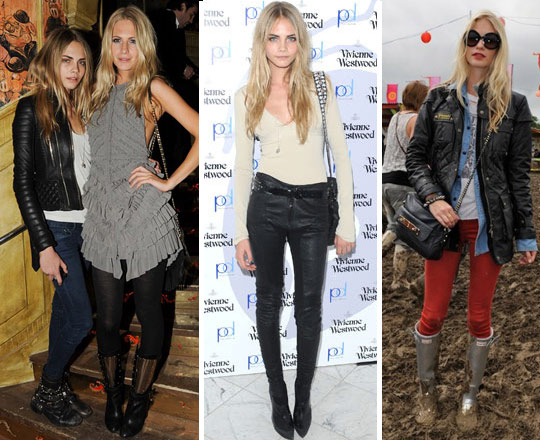 What She Wears: Poppy & Cara Delevigne