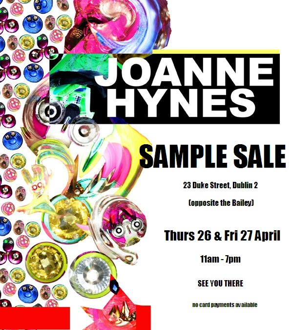 Joanne Hynes sample sale – 27/04/12