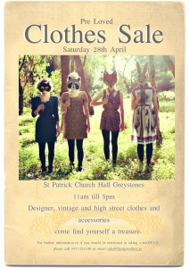 Pre-loved designer, vintage & high street clothes sale – 28/04/12