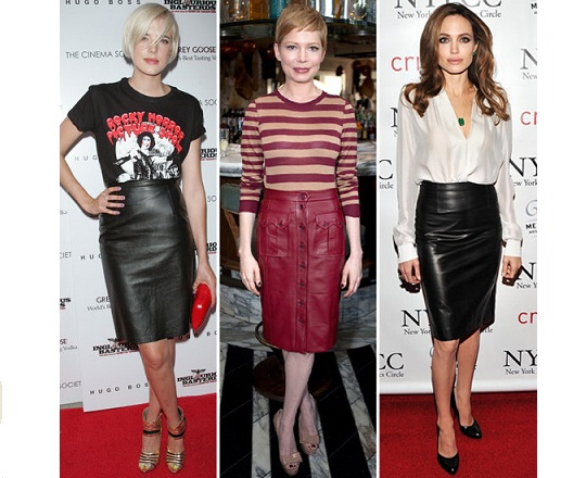 Trend We Like: The Leather Pencil Skirt