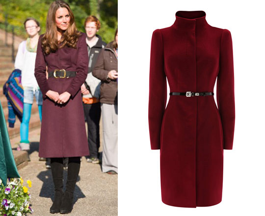Steal Her Style: Kate Middleton's Burgundy Coat