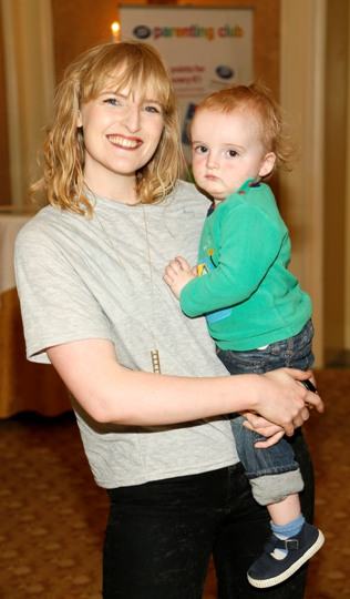 Sophie White and her son Rufus