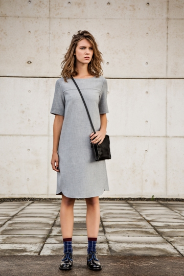 2a8df46c215 September sees strong colour blocking in tailored dresses and skirts in  shades of deep blue
