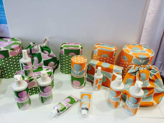Orla Kiely toiletries - the lavender hand cream!