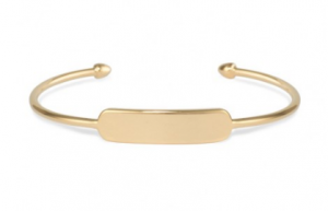 gold cuff engraved