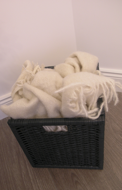 Foxford Woollen Mill Throw, Ikea basket