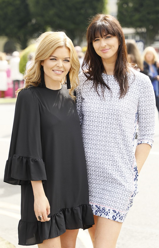 Doireann Garrihy and Suzie Griffin at the Dundrum Town Centre Ladies Day at The Dublin Horse Show in the RDS