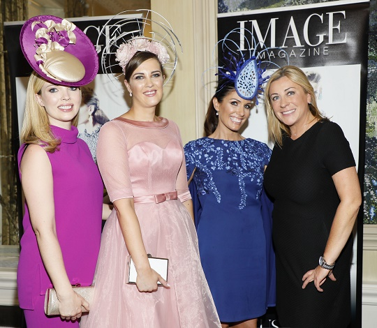 Laura O'Hanlon 3rd place, winner Alex Butler, Nicola Grant 2nd place and Yvonne Donohue Director of Sales at The Shelbourne Hotel at the Most Stylish Lady at The Shelbourne Hotel in association with IMAGE Magazine